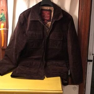 Eddie Bauer washable suede field coat mens med